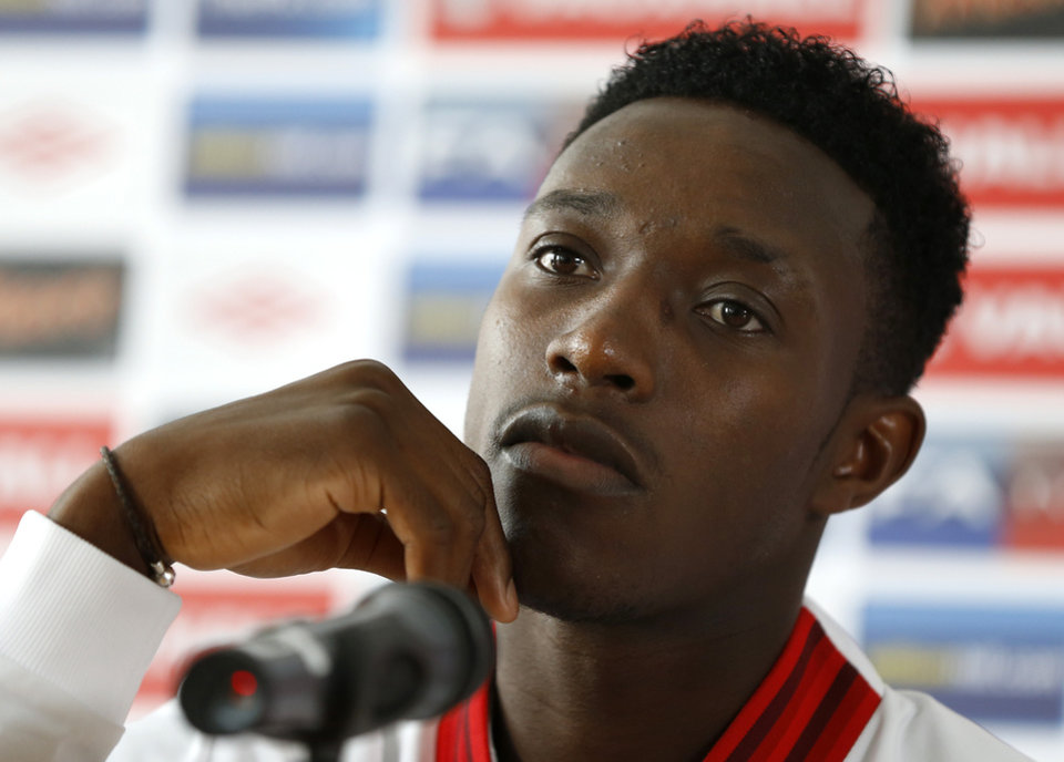 Photo -   England's soccer player Danny Welbeck listens during a press conference at the Euro 2012 soccer championship, in Krakow, Poland, Wednesday, June 13, 2012. (AP Photo/Kirsty Wigglesworth)