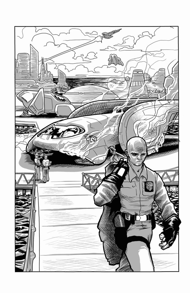 "John Nadir in a page from ""Nadir's Zenith."" ""Nadir's Zenith"" is written by Jackson Compton and drawn by Jerry Bennett. IMAGE provided"