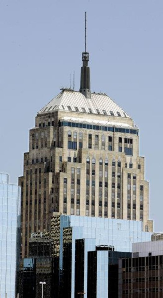 First National Tower, 120 N Robinson, remains a defining feature on the downtown skyline. Photo by Paul B. Southerland, The Oklahoman