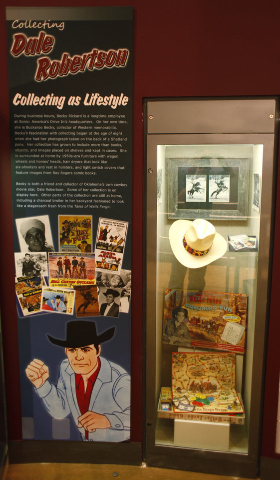 Photo - The career of Harrah-born movie and TV star Dale Robertson is celebrated in this display in the