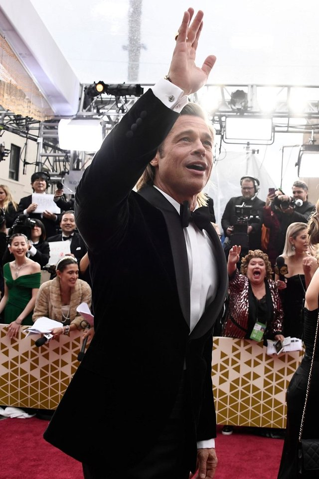 Photo - Brad Pitt arrives at the 92nd Academy Awards at Dolby Theatre. [USA TODAY]
