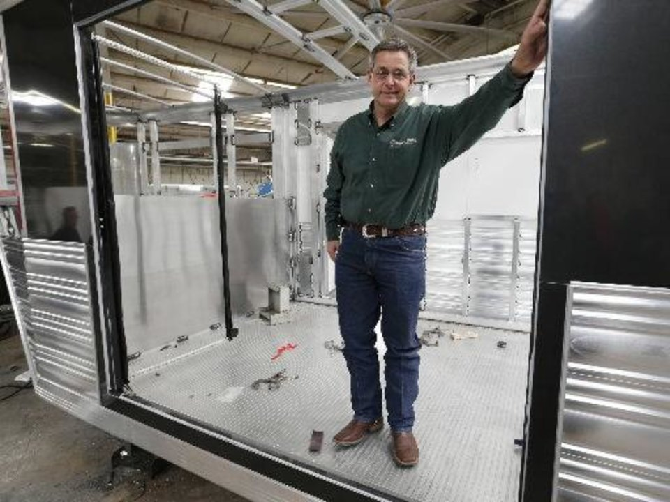 Michael Terry is co-owner of Cimarron Trailers in Chickasha. Photo by Steve Sisney, The Oklahoman <strong></strong>
