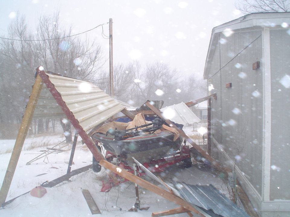 Winter weather demolition.  Submitted by Nicci Palesano.