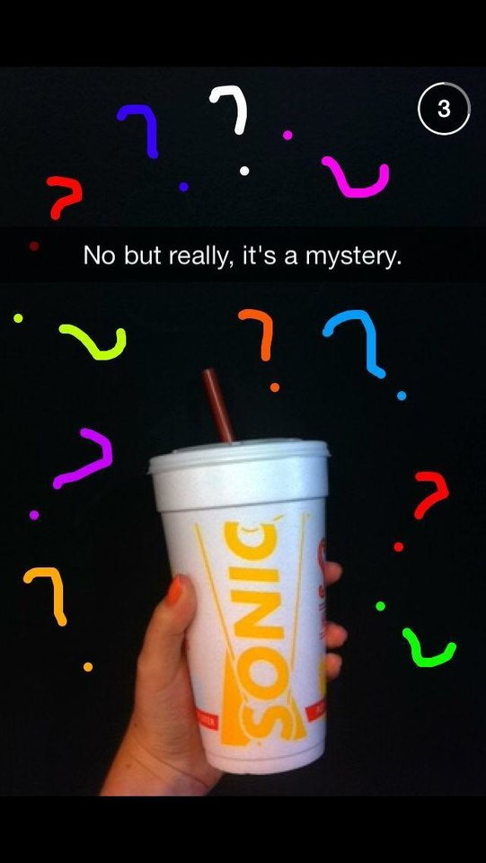 """Photo -  Sonic is promoting a """"Mystery Dissapearing Slush"""" with a series of quixotic messages, videos and images on social media. The mystery flavor will be available in restaurants only on Thursday. Photo provided"""