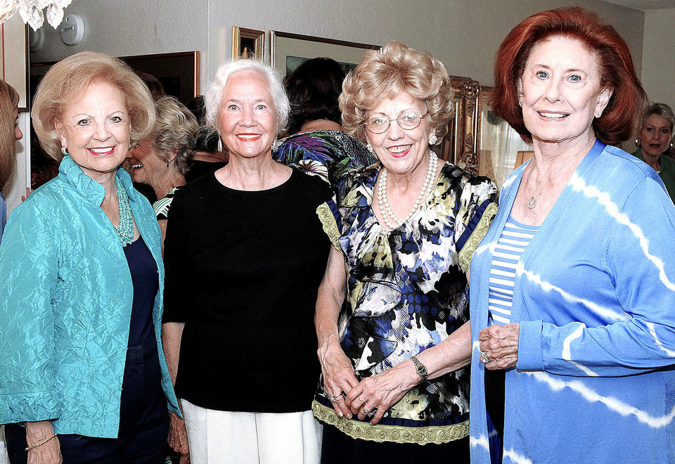 Photo - Betty Price, Claudine Long, M.J. Van Deventer,  Betty Rodgers Johnson.  PHOTOS BY DAVID FAYTINGER, FOR THE OKLAHOMAN