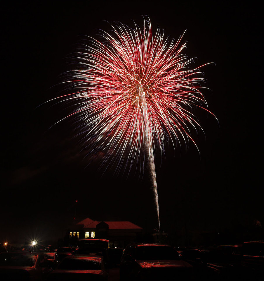 Fireworks show concluding LibertyFest at UCO Monday, July 4, 2011. Photo by Doug Hoke, The Oklahoman