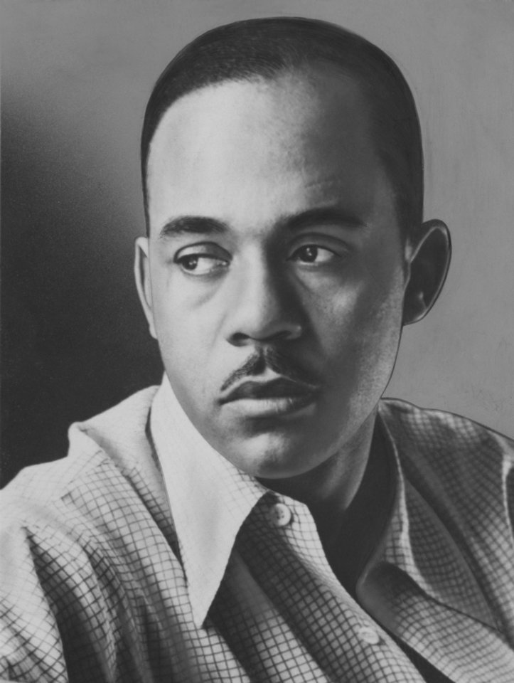 """Photo - A photograph of Ralph Ellison taken in 1953 by Gordon Parks, one year after Ellison's book """"Invisible Man"""" won the National Book Award. photo provided by the Library of Congress"""