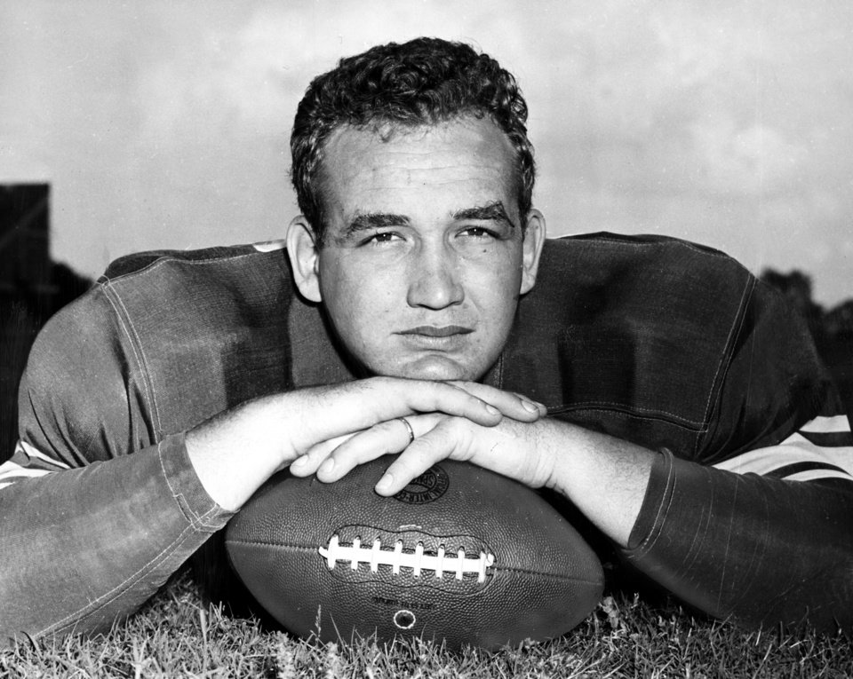 Photo - University of Oklahoma football player Stan West 1949. OKLAHOMAN ARCHIVE PHOTO