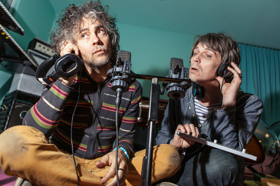 Photo - Wayne Coyne, left, and Steven Drozd of The Flaming Lips.  PHOTO BY GEORGE SALISBURY
