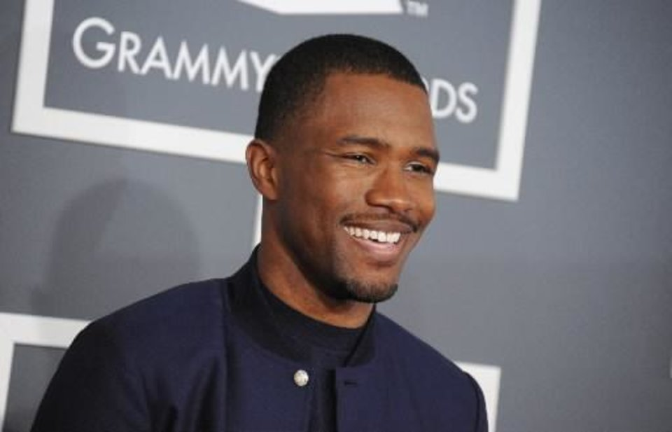 Frank Ocean arrives at the 55th annual Grammy Awards on Sunday, Feb. 10, 2013, in Los Angeles. (AP)