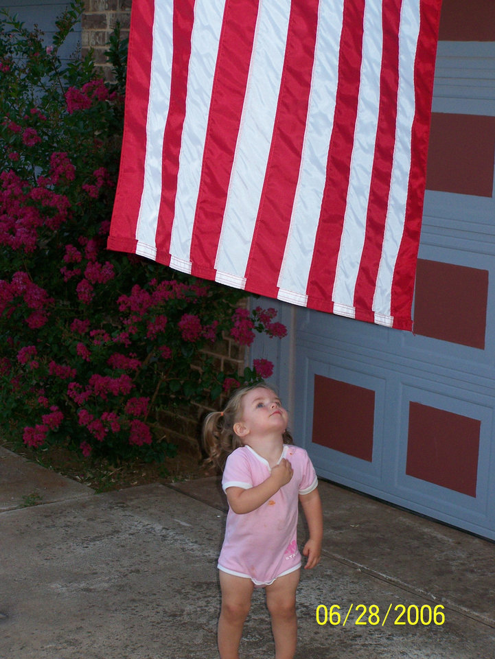 Lauren Goodman is only 2 years old, but she understands what it means to be American.<br/><b>Community Photo By:</b> Darryl Goodman<br/><b>Submitted By:</b> Darryl, Warr Acres