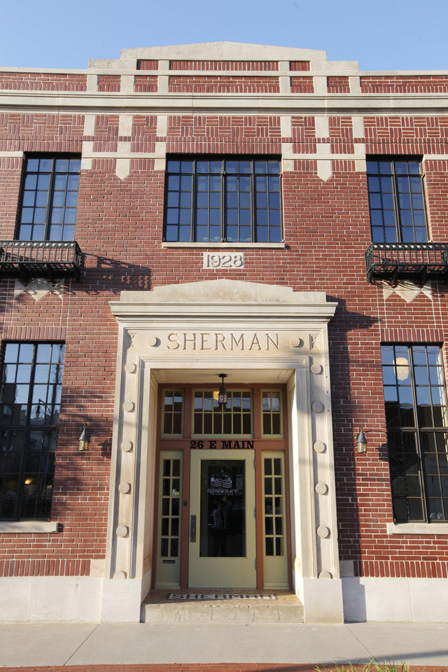 Photo -  The entrance is seen to the Sherman Iron Works building, 26 E Main St. PHOTO BY PAUL B. SOUTHERLAND   PAUL B. SOUTHERLAND