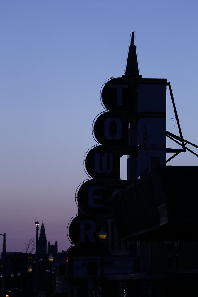 Photo - The landmark Tower Theater is in the middle of the NW 23 Street revival. Photo by Doug Hoke, The Oklahoman  DOUG HOKE