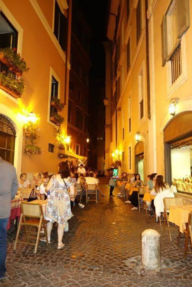 Photo -  A Rome alleyway Friday night. (Photo by Tricia Tramel)