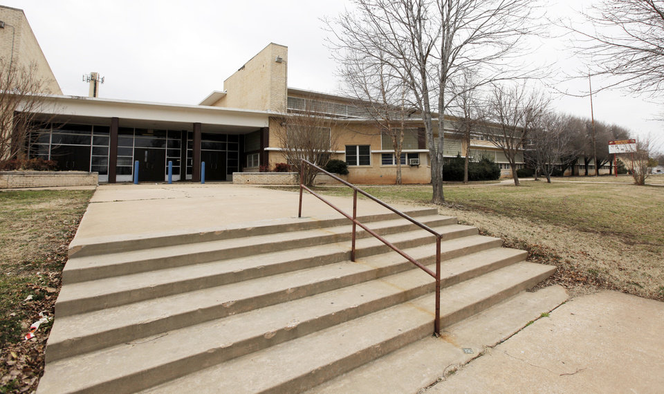 Photo - The old John Marshall High School at 9017 N  University in Oklahoma City is for sale by the school district. Photo by Nate Billings, The Oklahoman