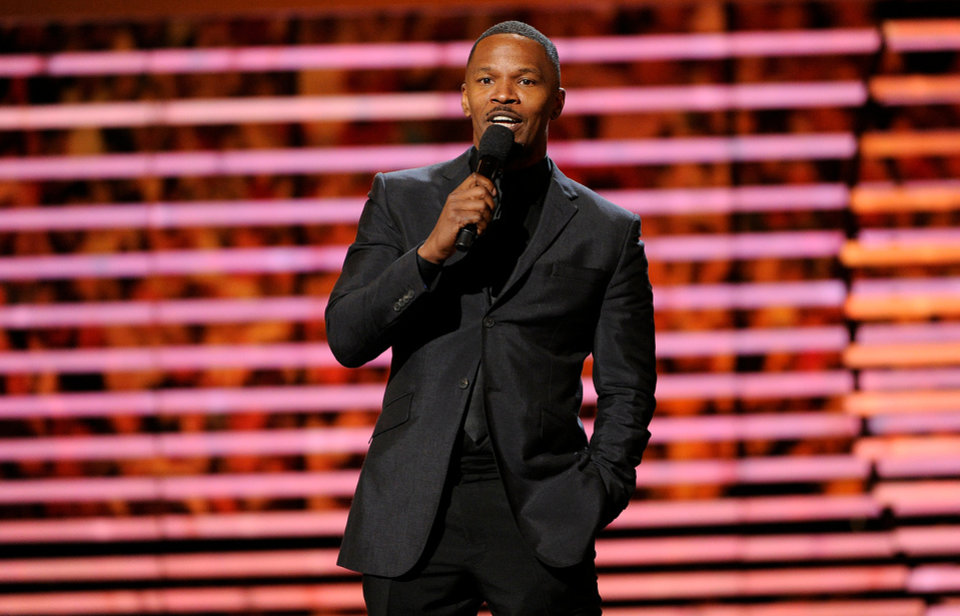 Photo - Actor Jamie Foxx speaks on stage at the third annual NFL Honors at Radio City Music Hall on Saturday, Feb. 1, 2014, in New York. (Photo by Evan Agostini/Invision for NFL/AP Images)