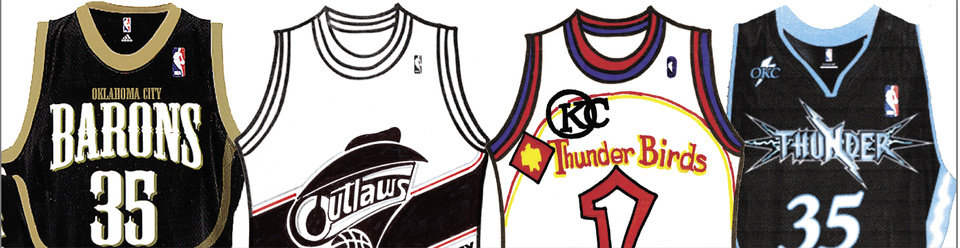 Photo - Oklahoma City NBA basketball team readers / fans jersey designs, team name suggestions / submissions GRAPHIC