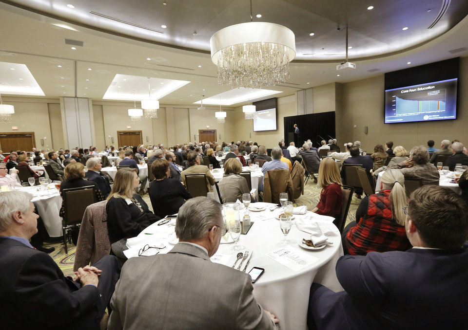 Photo -  The annual Edmond Economic Preview was held Thursday at the new Edmond Conference Center at Hilton Garden Inn, 2833 Conference Drive, northwest of Interstate 35 and Covell Road. [PHOTO BY JIM BECKEL, THE OKLAHOMAN]