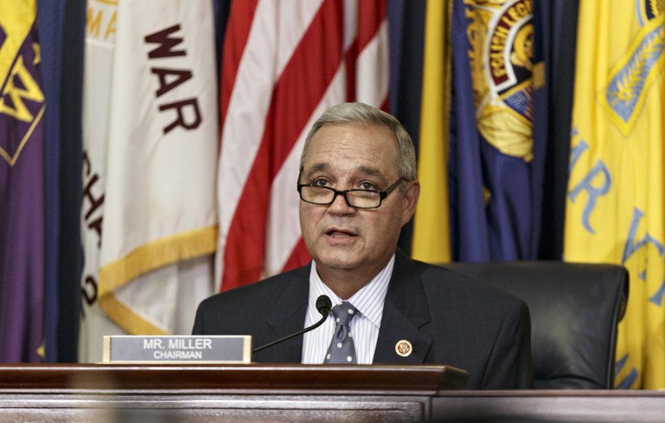 Photo - Rep. Jeff Miller, R-Fla., chairman of the House Committee on Veterans' Affairs, holds a hearing about allegations of gross mismanagement and misconduct at VA hospitals possibly leading to patient deaths, on Capitol Hill in Washington, Wednesday, May 28, 2014. (AP Photo/J. Scott Applewhite)
