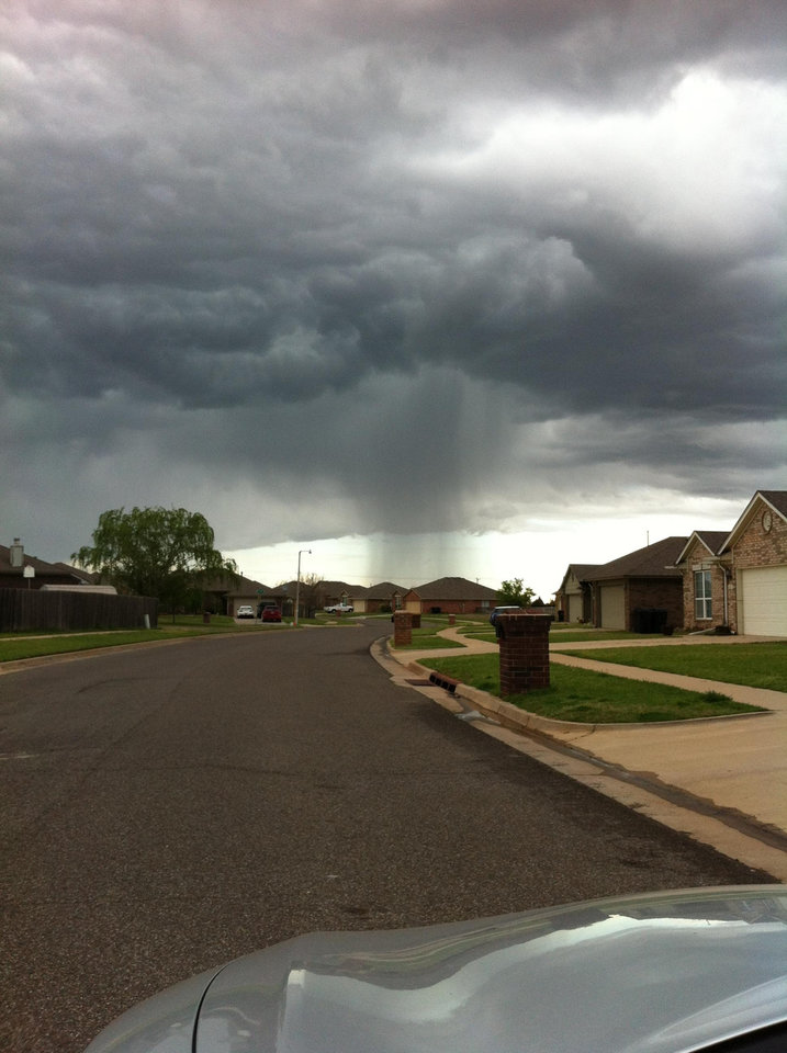Now I\'m not a weather woman, but I would predict getting soaked is in our future!