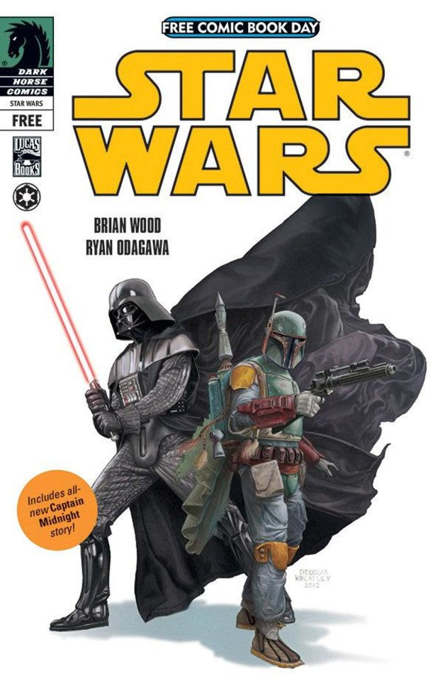 "Darth Vader and Boba Fett are featured in Dark Horse's ""Star Wars"" comic being released for Free Comic Book Day.  Dark Horse Comics. <strong></strong>"