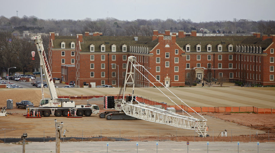 Construction on the Sherman Smith Training Center on the campus of Oklahoma State University in Stillwater, Okla., Wednesday, March 7, 2012. Photo by Bryan Terry, The Oklahoman