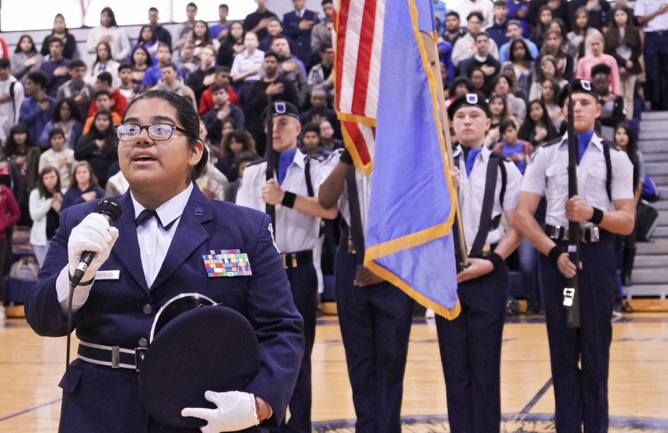 Photo - Veterans Day ceremony at Southeast High School