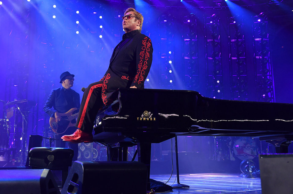 Photo - Musician Elton John performs as part of the Apple Music Festival in London, Sunday, Sept. 18, 2016. (Photo by Mark Allan/Invision/AP)