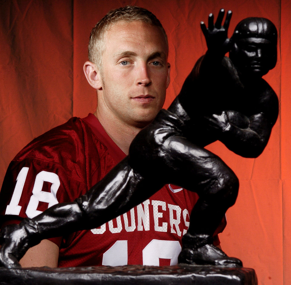 Photo -  Former Oklahoma quarterback Jason White recalled the week he won the Heisman Trophy in 2003 as
