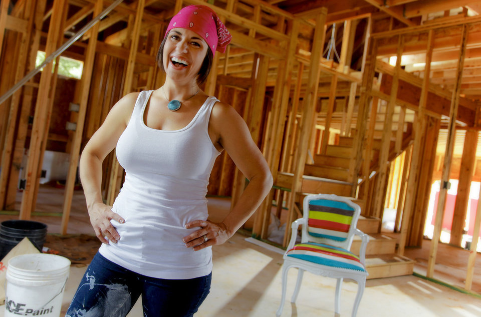 Interior designer Kellie Clements poses for a photo in a home still under construction on Thursday, June 30, 2011, in Oklahoma City, Okla.  Photo by Chris Landsberger, The Oklahoman