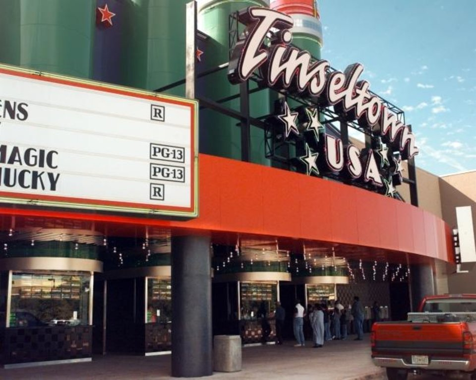 Photo -  The Tinseltown USA movie theater is seeking a special alcohol permit that would allow it to serve alcoholic beverages to patrons 21 and older. [OKLAHOMAN ARCHIVES]