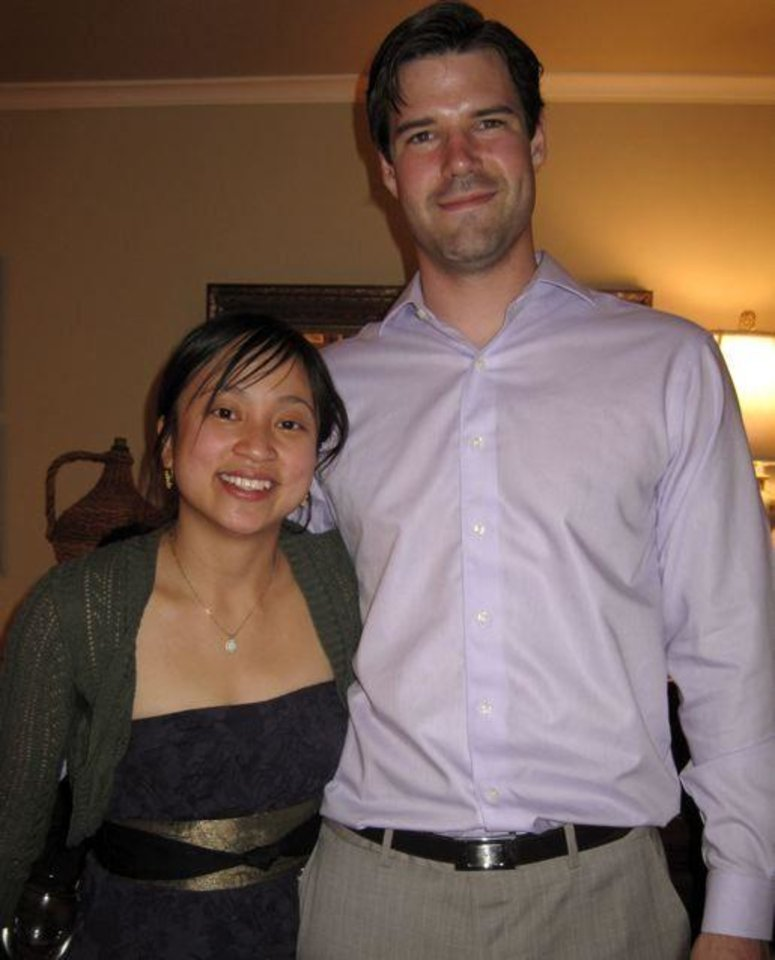 WEDDING SHOWER....Engaged couple Denise Duong and Matt Seikel pose  for pictures.(Photo by Helen Ford Wallace).