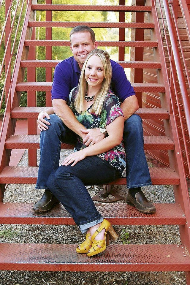 Photo - ADAM STEELE / MOTORCYLE ACCIDENT / DEATH: Adam and Jennifer Steele, of Oklahoma City. Adam was killed riding a motorcycle at Belle Isle Boulevard and Northwest Expressway on Sept. 2. The intersection is the worst in the city for wrecks. Provided