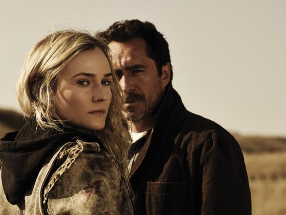 "Diane Kruger as Sonya Cross and Demian Bichir as Marco Ruiz in ""The Bridge."" - CR: Frank Ockenfels/FX"