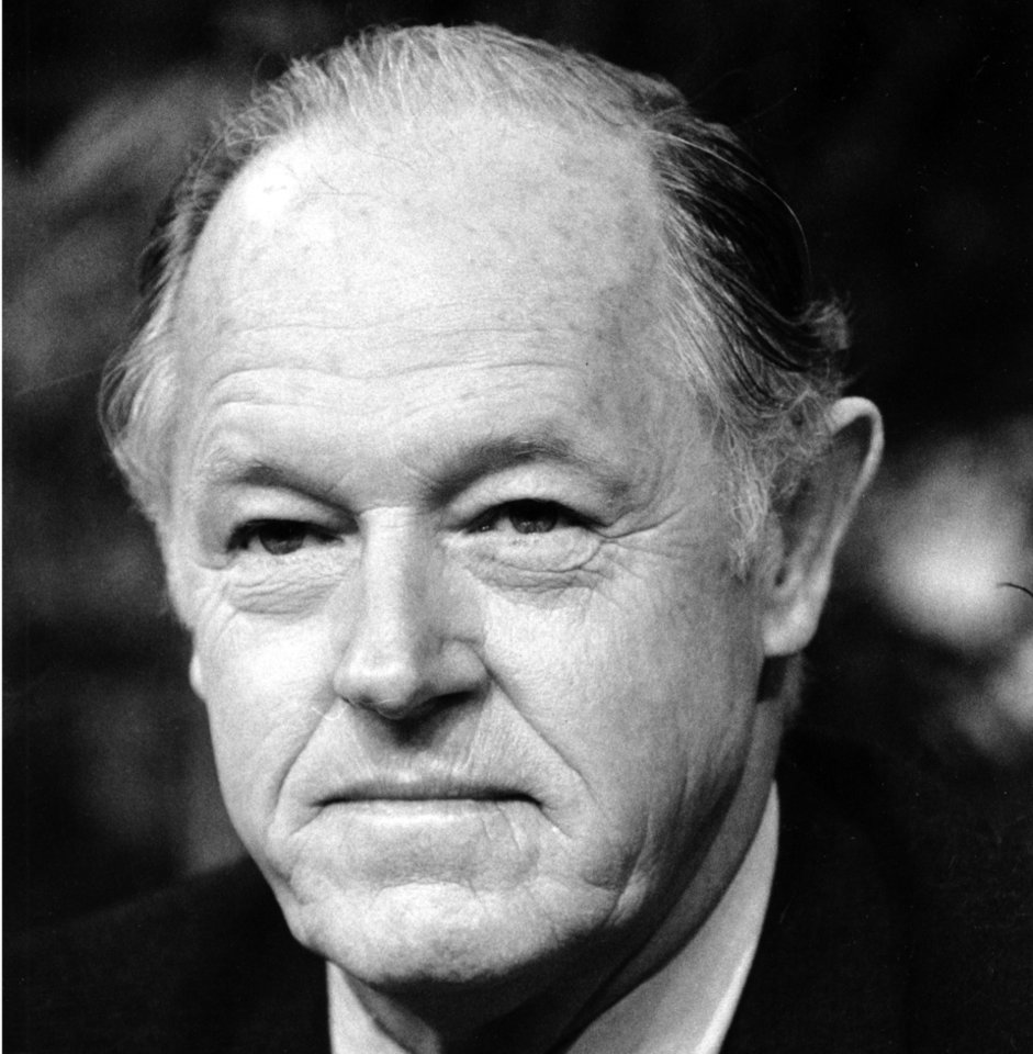 Photo -   FILE - This Jan. 7, 1982 black-and-white file photo shows E. Howard Hunt appearing on ABC-TV's
