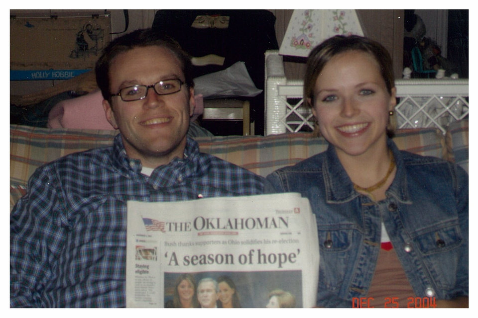 "President George W. Bush's re-election in 2004 brought a different sort of headline. The Oklahoman used a quote, calling it ""a season of hope."" Tony LoPresto was 25. His sister Miriam was 21. <strong> - Provided</strong>"