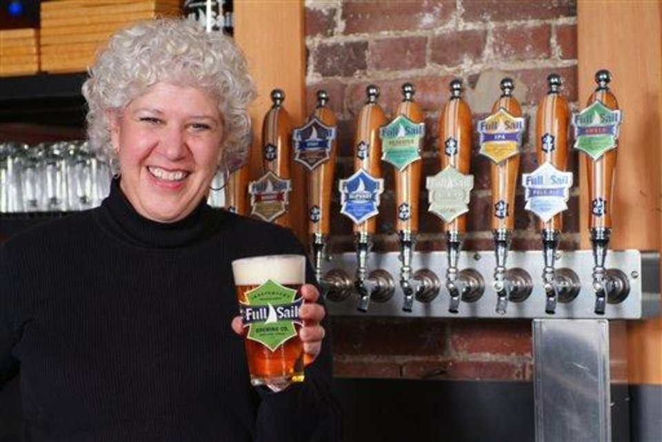 Photo - An undated image of Irene Firmat in the Full Sail Brewery taken in Hood River, Ore. (AP Photo/Lynn Howlett Photography/Full Sail Brewing Company)