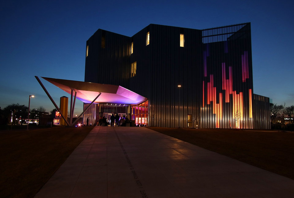 Photo - Oklahoma Contemporary Arts Center's new $30 million home is located at NW 11 and Broadway but has not yet opened to the public due to the coronavirus pandemic. [Photo by Doug Hoke/The Oklahoman Archives]