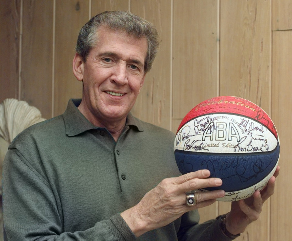 Photo - David Vance, former vice-president and chief operating officer of Remington Park racetrack and his ABA basketball. Vance was also a general manager of the ABA's Kentucky Colonels before he became involved in horse racing.