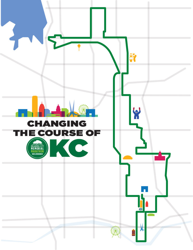 Photo -  The new course of the Oklahoma City Memorial Marathon will take runners farther south in Oklahoma City and will end near the new Scissortail Park. [PHOTO PROVIDED]
