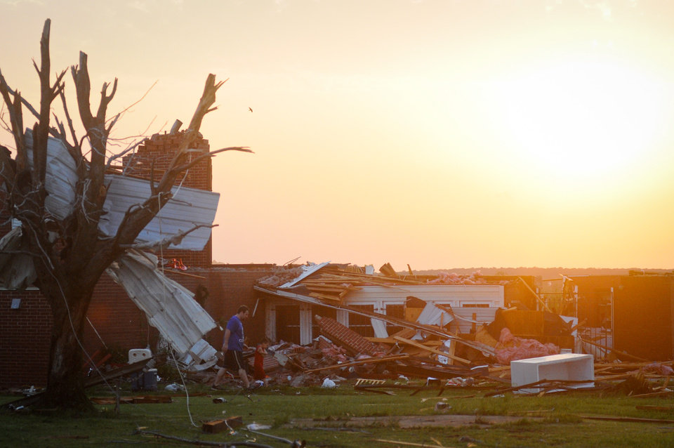 Photo - The home of Janee Keiser was destroyed after a tornado went through Carney, Okla. on May 19, 2013.  KT King/For the Oklahoman