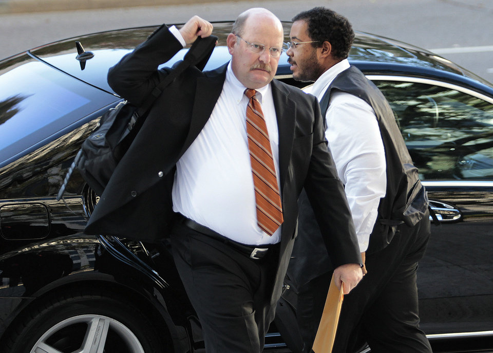 Former Minnesota Vikings head coach Brad Childress appears for appeal hearings in the NFL\'s bounty investigation of the New Orleans Saints football team, Monday, Dec. 3, 2012, in New Orleans. (AP Photo/The Times-Picayune, Ted Jackson) MAGS OUT; NO SALES; USA TODAY OUT