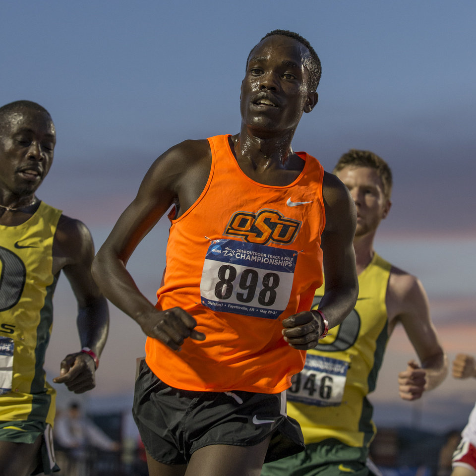 Photo -  Shadrack Kipchirchir went from an unknown in the distance running world to one of the top collegians. Now that his time at Oklahoma State is finished, he has his eye set on running internationally.    -  Clay Billman, OSU Athletics