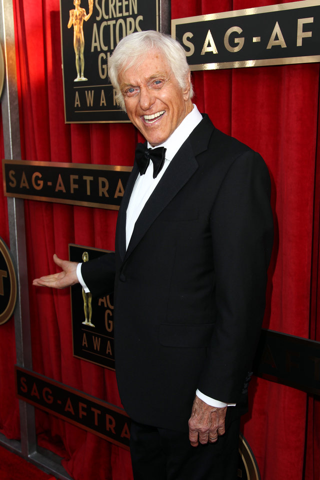 Photo - Dick Van Dyke arrives at the 19th Annual Screen Actors Guild Awards at the Shrine Auditorium in Los Angeles on Sunday, Jan. 27, 2013. (Photo by Matt Sayles/Invision/AP)