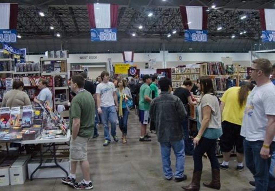 Conventiongoers at Planet Comicon.  Photo by Rachael Luke Privett