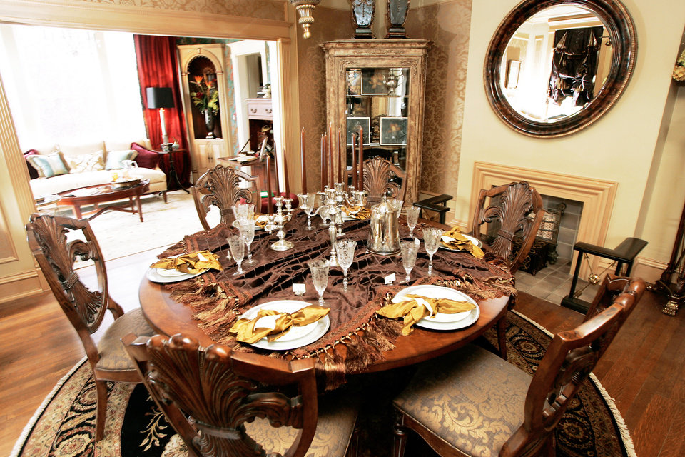 """Photo - The dining room was dubbed """"A Place of Sharing"""" for the Symphony Designers Show House.  PHOTO BY STEVE GOOCH, THE OKLAHOMAN"""