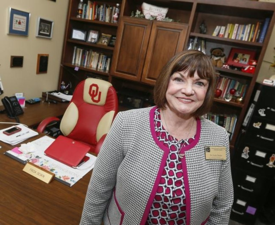 Photo -  Freda Deskin, founder and CEO of ASTEC Schools, taught at and earned advanced degrees from the University of Oklahoma. [NATE BILLINGS/THE OKLAHOMAN]