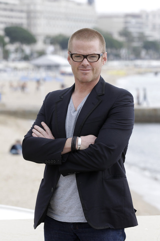 Photo - FILE - This April 2, 2012 file photo shows British chef Heston Blumenthal during the MIPTV, International Television Programme Market in Cannes, southern France. Blumenthal's