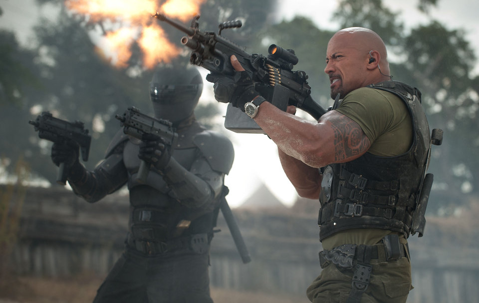 "Ray Park, left, and Dwayne Johnson in a scene from ""G.I. Joe: Retaliation."" PARAMOUNT PICTURES PHOTO <strong>Jaimie Trueblood</strong>"
