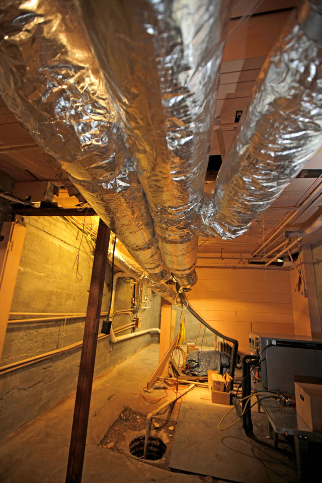 New air ducts are seen inside the basement of a home at 431 NW 17 Street in Oklahoma City, Thursday, May 13, 2010. Photo by Bryan Terry, The Oklahoman